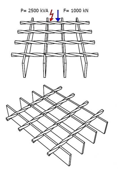 Kraty podłogowe SP zgrzewane oporowo